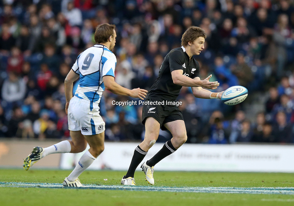 2012 Air New Zealand European Tour 11/11/2012<br /> Scotland vs New Zealand<br /> New Zealand's Sam Cane, Scotland v New Zealand All Blacks, Murrayfield Stadium, Edinburgh, Scotland, Sunday 11th November 2012.<br /> Mandatory Credit &copy;INPHO/Dan Sheridan