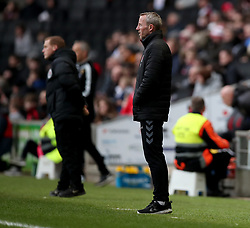 Charlton Athletic's assistant manager Lee Bowyer during the Sky Bet League One match at Stadium MK, Milton Keynes .