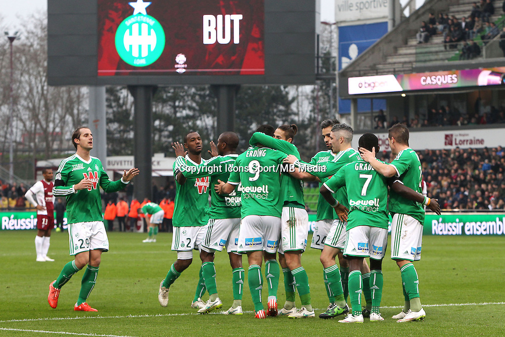 Joie Saint Etienne - 14.03.2015 - Metz / Saint Etienne - 29e journee Ligue 1<br /> Photo : Fred Marvaux / Icon Sport