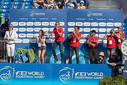 Guerdat Steve, SUI, Bianca, Kistler Andy, SUI<br /> World Equestrian Games - Tryon 2018<br /> © Hippo Foto - Dirk Caremans<br /> 19/09/2018