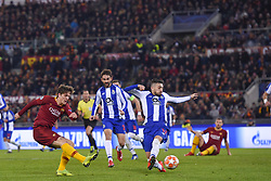 February 12, 2019 - Roma, Roma, Italia - Foto Luciano Rossi/AS Roma/ LaPresse.12/02/2019 Roma (Italia).Sport Calcio.AS Roma - Porto  .Uefa Champions League 2018 2019 - Stadio Olimpico di Roma.Nella foto: Nicolò Zaniolo Gol..Photo  Luciano Rossi/AS Roma/ LaPresse.12/02/2019 Roma (Italia).Sport Soccer.AS Roma - Porto   .Uefa Champions League 2018 2019 - Olimpic Stadium of Roma (Italy).In the pic: Nicolò Zaniolo Goal (Credit Image: © Luciano Rossi/Lapresse via ZUMA Press)
