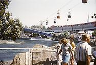 Disneyland skyway gondolas. Disneyland vacation Kodachromes from 1962.
