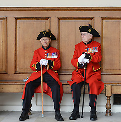 © Licensed to London News Pictures. 02/06/2014. London, England. The Governor's Review of The Chelsea Pensioners at The Royal Hospital Chelsea. Photo credit : Mike King/LNP