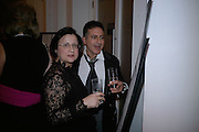 Maria Lemos and Stelios, The Royal Academy Schools dinner and auction. Royal Academy. London. 27 March 2007.  -DO NOT ARCHIVE-© Copyright Photograph by Dafydd Jones. 248 Clapham Rd. London SW9 0PZ. Tel 0207 820 0771. www.dafjones.com.