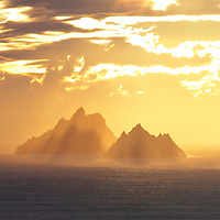Golden Skellig Sunset, County Kerry, Ireland ****** <br /> <br /> Visit &amp; browse through my Photography &amp; Art Gallery, located on the Wild Atlantic Way &amp; Skellig Ring between Waterville and Ballinskelligs (Skellig Coast R567), only 3 minutes from the main Ring of Kerry road.<br /> https://goo.gl/maps/syg6bd3KQtw<br /> <br /> ******<br /> <br /> Contact: 085 7803273 from an Irish mobile phone or +353 85 7803273 from an international mobile phone