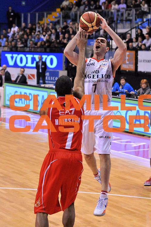DESCRIZIONE : Biella Lega A 2012-13 Angelico Biella EA7 Emporio Armani Milano<br /> GIOCATORE : Matteo Soragna<br /> CATEGORIA : Tiro<br /> SQUADRA : Angelico Biella <br /> EVENTO : Campionato Lega A 2012-2013 <br /> GARA : Angelico Biella EA7 Emporio Armani Milano<br /> DATA : 30/12/2012<br /> SPORT : Pallacanestro <br /> AUTORE : Agenzia Ciamillo-Castoria/S.Ceretti<br /> Galleria : Lega Basket A 2012-2013  <br /> Fotonotizia : Biella Lega A 2012-13 Angelico Biella EA7 Emporio Armani Milano<br /> Predefinita :