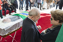 July 21, 2017 - Sao Paulo, Brazil - Former presidents LULA and DILMA ROUSSEFF during the wake, at the legislative assembly in the city of Sao Paulo, of former presidential aide and founder of the workers' party Marco Aurelio Garcia, who died of heart attack yesterday. (Credit Image: © Marcelo Chello/CJPress via ZUMA Wire)
