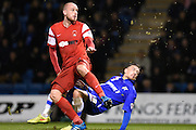 Cody McDonald scores the winning goal during the Sky Bet League 1 match between Gillingham and Leyton Orient at the MEMS Priestfield Stadium, Gillingham, England on 15 November 2014.