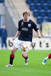 Falkirk's David Weatherston..Falkirk 1 v 0 Queen of the South, 15/10/2011..Pic © Michael Schofield.