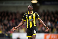 Lucas Akins of Burton Albion is disappointed after missing a shot on goal during the Sky Bet League 1 match between Burton Albion and Oldham Athletic at the Pirelli Stadium, Burton upon Trent, England on 26 March 2016. Photo by Brandon Griffiths.