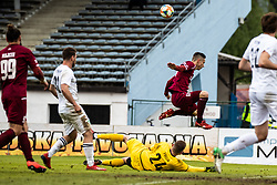 Mlakar Tilen of NK Triglav and Ziga Frelih of NK Krsko during Football match between NK Triglav Kranj and NK Krsko in 33th Round of Prva liga Telekom Slovenije 2018/19, on May 15th, 2019, in Sports park Kranj, Slovenia. Photo by Grega Valancic / Sportida