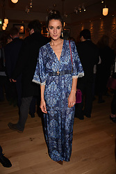 Rosanna Falconer at the launch of Fiume at Battersea Power Station, Battersea, London England. 16 November 2017.<br /> Photo by Dominic O'Neill/SilverHub 0203 174 1069 sales@silverhubmedia.com