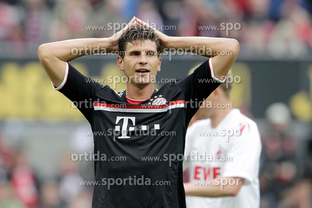 05.05.2012, Rhein Energie Stadion, Koeln, GER, 1. FC Koeln vs FC Bayern Muenchen, 34. Spieltag, im Bild Frust, frustriert, enttaeuscht, enttaeuschung, Emotionen Mario GOMEZ (FC Bayern Muenchen - 33) nach verpasster chance // during the German Bundesliga Match, 34th Round between 1. FC Cologne and Bayern Munich at the Rhein Energie Stadium, Cologne, Germany on 2012/05/05. EXPA Pictures © 2012, PhotoCredit: EXPA/ Eibner/ Gerry Schmit..***** ATTENTION - OUT OF GER *****