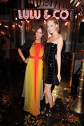 Left to right, LULU KENNEDY and POPPY DELEVIGNE  at a party to celebrate the launch of Lulu & Co held at the Fifth Floor Cafe, Harvey Nichols, Knightsbridge, London on 21st October 2010.