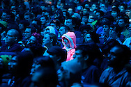 Gaming enthusiasts watch a Nintendo Super Smash Bros. invitational tournament at the 2014 Electronic Entertainment Expo, known as E3, in Los Angeles, California June 10, 2014.  REUTERS/Jonathan Alcorn   (UNITED STATES)