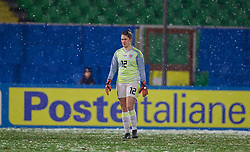 CESENA, ITALY - Tuesday, January 22, 2019: Wales' goalkeeper Claire Skinner during the International Friendly between Italy and Wales at the Stadio Dino Manuzzi. (Pic by David Rawcliffe/Propaganda)