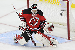 Nov 2; Newark, NJ, USA; New Jersey Devils goalie Martin Brodeur (30) makes a save during the first period at the Prudential Center.