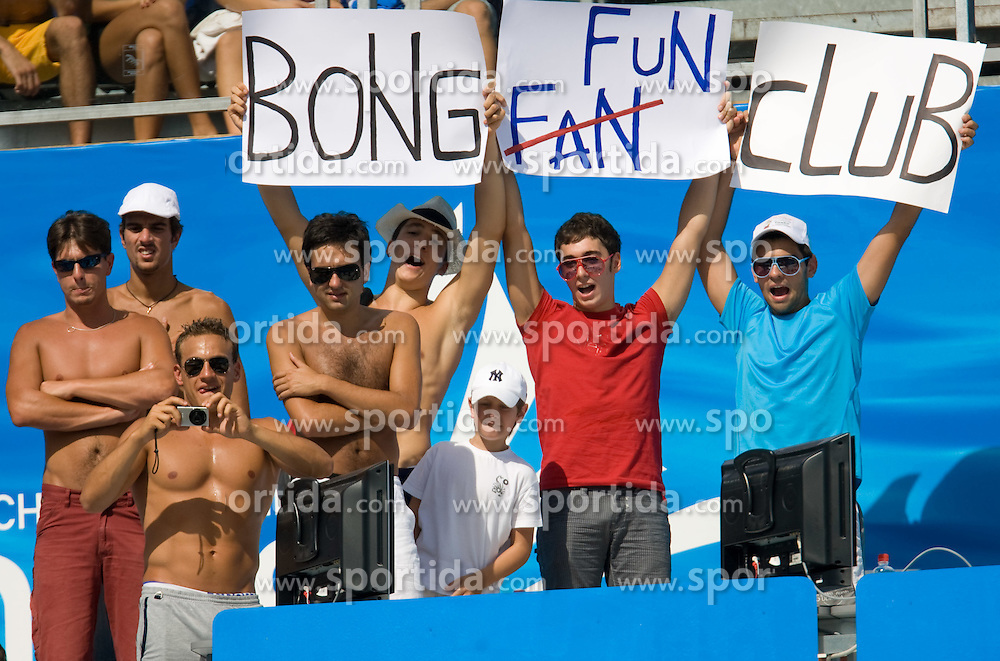Bong fan club during the 13th FINA World Championships Roma 2009, on July 28, 2009, at the Stadio del Nuoto,  in Foro Italico, Rome, Italy. (Photo by Vid Ponikvar / Sportida)