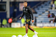 Brentford forward Ollie Watkins (11) warms up ahead of  the EFL Sky Bet Championship match between Queens Park Rangers and Brentford at the Kiyan Prince Foundation Stadium, London, England on 28 October 2019.