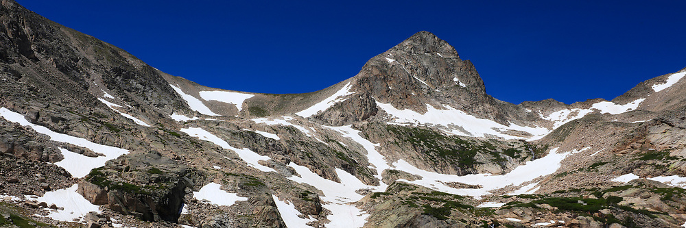 Panorama of the Indian Peaks Wilderness with Mount Toll