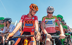 06.07.2017, Kitzbühel, AUT, Ö-Tour, Österreich Radrundfahrt 2017, 4. Etappe von Salzburg - Kitzbüheler Horn (82,7 km/BAK), im Bild Felix Grossschartner (AUT, CCC Sprandi Polkowice), Stephan Rabitsch (AUT, Team Felbermayr Simplon Wels) // Felix Grossschartner (AUT, CCC Sprandi Polkowice), Stephan Rabitsch (AUT, Team Felbermayr Simplon Wels) during the 4th stage from Salzburg - Kitzbueheler Horn (82,7 km/BAK) of 2017 Tour of Austria. Kitzbühel, Austria on 2017/07/06. EXPA Pictures © 2017, PhotoCredit: EXPA/ JFK