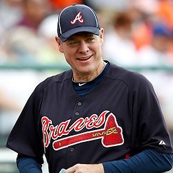 March 5, 2011; Lake Buena Vista, FL, USA; Former Atlanta Braves player Dale Murphy during a spring training exhibition game against the New York Mets at Disney Wide World of Sports complex.  Mandatory Credit: Derick E. Hingle