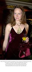 MISS CHARLOTTE ASPREY daughter of John Asprey of Asprey & Garrards, at a ball in London on 15th November 2001.OUG 74