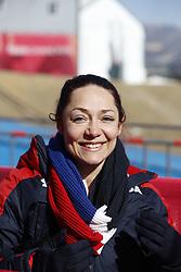 February 12, 2018 - Pyeongchang, KOREA - Katie Uhlaender (USA) at the ladies skeleton training during the Pyeongchang 2018 Olympic Winter Games. (Credit Image: © David McIntyre via ZUMA Wire)