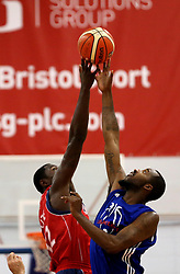 Bristol Flyers and USA Select tip off - Mandatory by-line: Robbie Stephenson/JMP - 08/09/2016 - BASKETBALL - SGS Arena - Bristol, England - Bristol Flyers v USA Select - Preseason Friendly