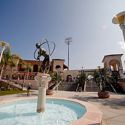 February 24, 2011; Clearwater, FL, USA; A general view outside prior to a spring training exhibition game between the Philadelphia Phillies and Florida State University at Bright House Networks Field. Mandatory Credit: Derick E. Hingle