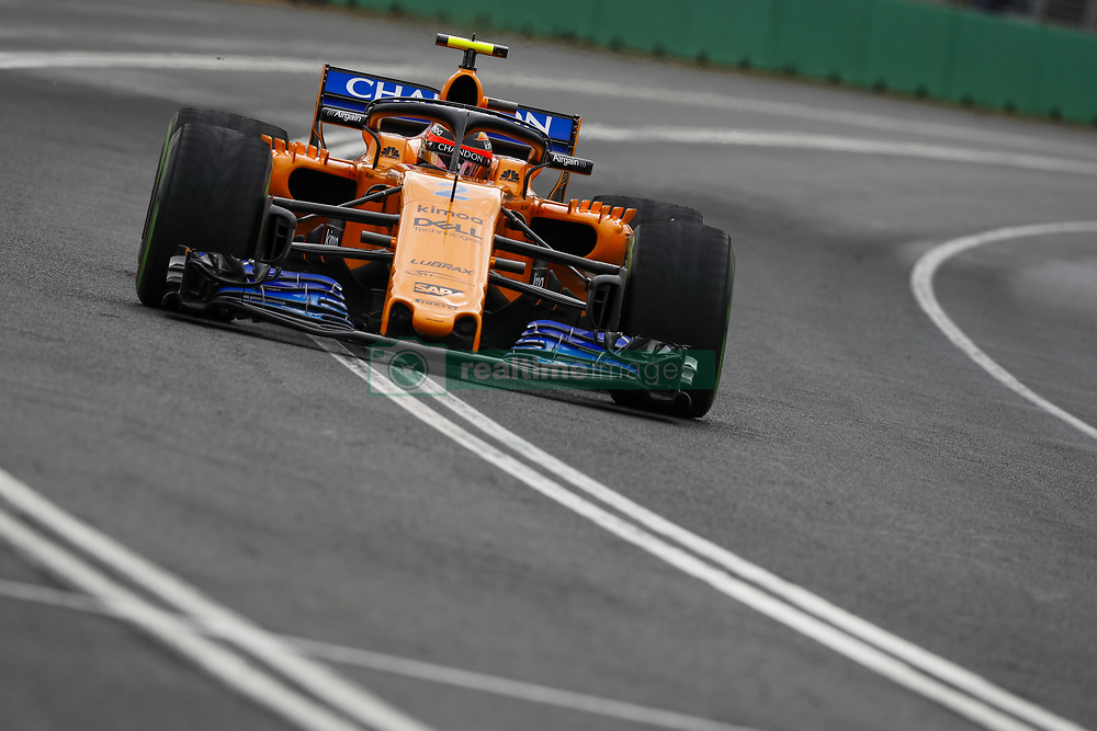 March 24, 2018 - Melbourne, Victoria, Australia - 02 VANDOORNE Stoffel (bel), McLaren Renault MCL33, action during 2018 Formula 1 championship at Melbourne, Australian Grand Prix, from March 22 To 25 - s: FIA Formula One World Championship 2018, Melbourne, Victoria : Motorsports: Formula 1 2018 Rolex  Australian Grand Prix, (Credit Image: © Hoch Zwei via ZUMA Wire)