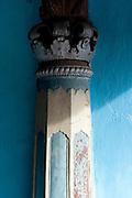 Detail of pillar. Home in Karaikal. Puducherry, South India.