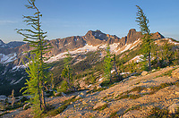 Cutthroat Prak at daybreak. Seen from Cutthroat Pass, North Cascades Washington