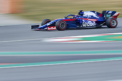 February 19, 2019 - Spain - Alexander Albon (Red Bull Toro Rosso Honda) seen in action during the winter test days at the Circuit de Catalunya in Montmelo  (Credit Image: © Fernando Pidal/SOPA Images via ZUMA Wire)