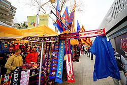 Barcelona merchandise on sale outside the Nou Camp before kick off - Mandatory byline: Matt McNulty/JMP - 16/03/2016 - FOOTBALL - Nou Camp - Barcelona,  - FC Barcelona v Arsenal - Champions League - Round of 16