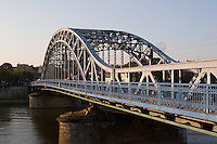 pilsudski bridge from krakow's kazimierz district to podgorze in sunshine in september 2005