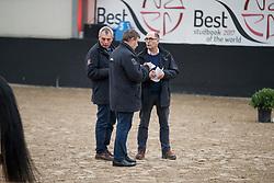 Oelbrandt Patrick, BEL, Tinel Lieven, BEL, Schepers Boudewijn, BEL<br /> Hengstenkeuring BRP<br /> 3de phase - Hulsterlo - Meerdonk 2018<br /> © Hippo Foto - Dirk Caremans
