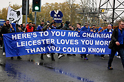 The parade arrives at The King Power Stadium before the Premier League match between Leicester City and Burnley at the King Power Stadium, Leicester, England on 10 November 2018.