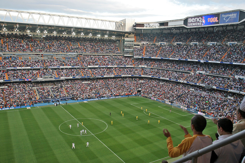 Real Madrid home stadium; Santiago Bernabeu.