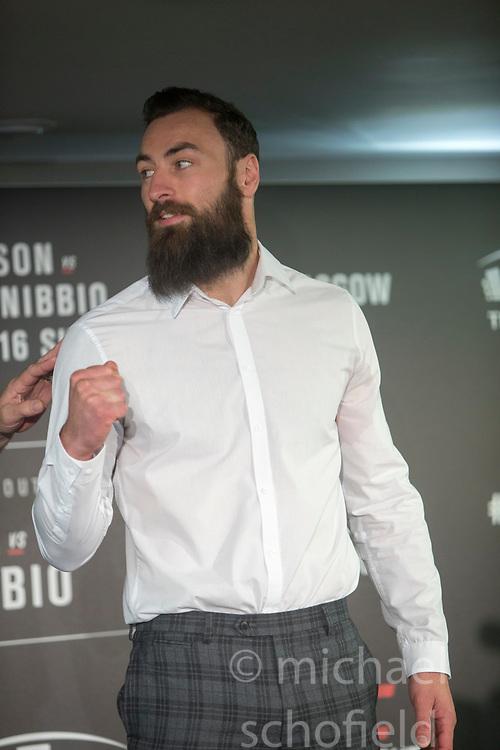 Scot Paul Craig – UFC light heavyweight. UFC FIGHT NIGHT: ULTIMATE MEDIA DAY, Castle, Crowne Plaza Glasgow,