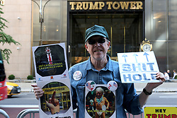 September 29, 2018 - New York City, New York, US - Anti-trump activists opposite Trump Tower on a brilliant autumn day on 29 September 2018. (Credit Image: © G. Ronald Lopez/ZUMA Wire)