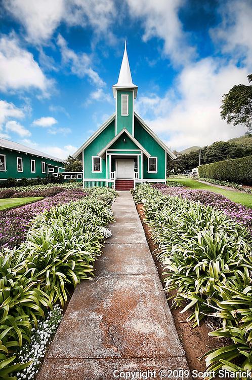 The Ke Ola Mau Loa Church in Waimea on the Big Island of Hawaii.