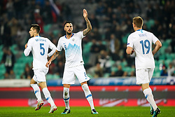 Nemanja Mitrovic of Slovenia, Amir Dervisevic of Slovenia and Robert Beric of Slovenia during football match between National Teams of Slovenia and Cyprus in Final Tournament of UEFA Nations League 2019, on October 16, 2018 in SRC Stozice, Ljubljana, Slovenia. Photo by  Morgan Kristan / Sportida