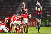 Canadian scrum half Phil Mack clears his line with a box kick in the first half during the Rugby World Cup qualifier between Hong Kong and Canada at Stade Delort, Marseilles, France on 23 November 2018. Picture by Ian  Muir.