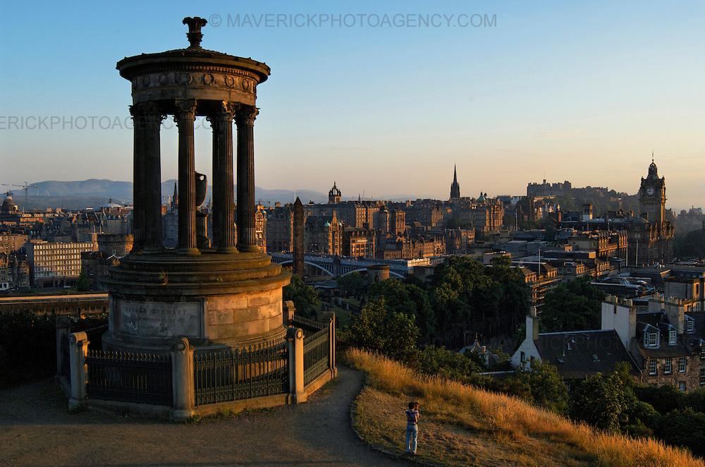 EDINBURGH, UK: Classic view looking over the city of Edinburgh at sunset from Carlton Hill. (Photograph: MAVERICK PHOTO AGENCY)