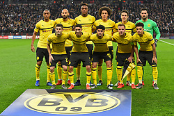 February 13, 2019 - London, England, United Kingdom - team Borussia Dortmund during the UEFA Champions League match between Tottenham Hotspur and Ballspielverein Borussia 09 e.V. Dortmund at Wembley Stadium, London on Wednesday 13th February 2019. (Credit: Jon Bromley | MI News & Sport Ltd) (Credit Image: © Mi News/NurPhoto via ZUMA Press)
