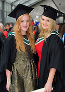 Muireann Bird from Tara Co Meath and  Emily McGreal Athenry who both received BA International from NUI,Galway. Photo:Andrew Downes.