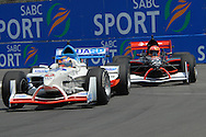 DURBAN, South Africa, Team Switzerland and Team Czech Republic battle for position during the third practice session held as part of the A1GP race weekend in Durban, South Africa on Saturday 23 February 2008.  Photo: SportsPics/SPORTZPICS