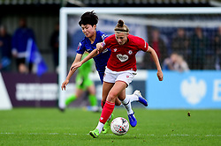 Yana Daniels of Bristol City is marked by Ji So-Yun of Chelsea Women - Mandatory by-line: Ryan Hiscott/JMP - 29/09/2019 - FOOTBALL - SGS College Stoke Gifford Stadium - Bristol, England - Bristol City Women v Chelsea Women - FA Women's Super League