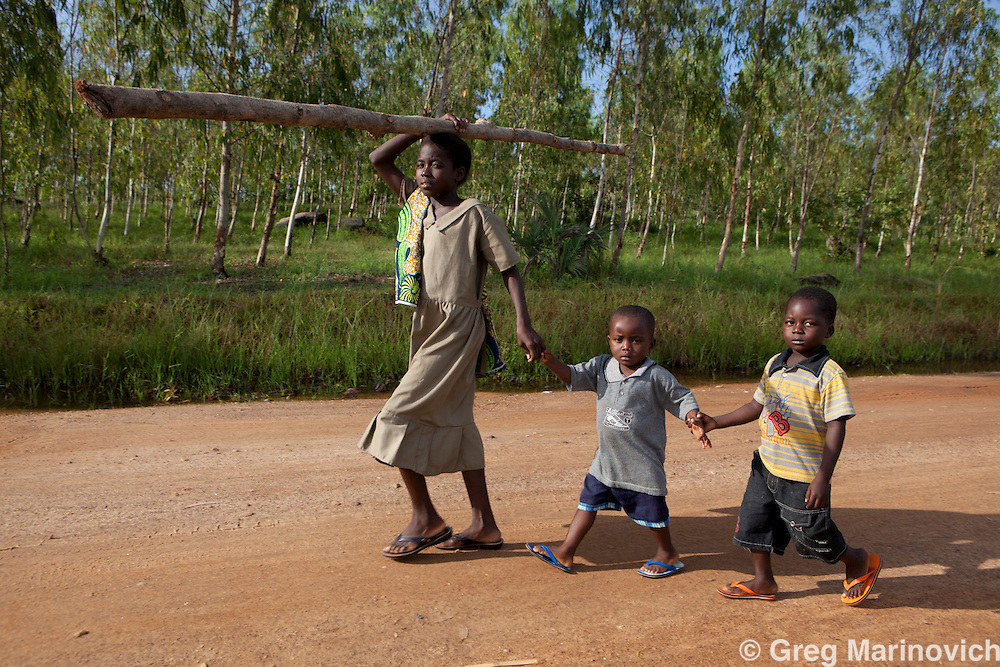 Near Wekele village in central Togo near Kara where some 40% of the children are malnourished.